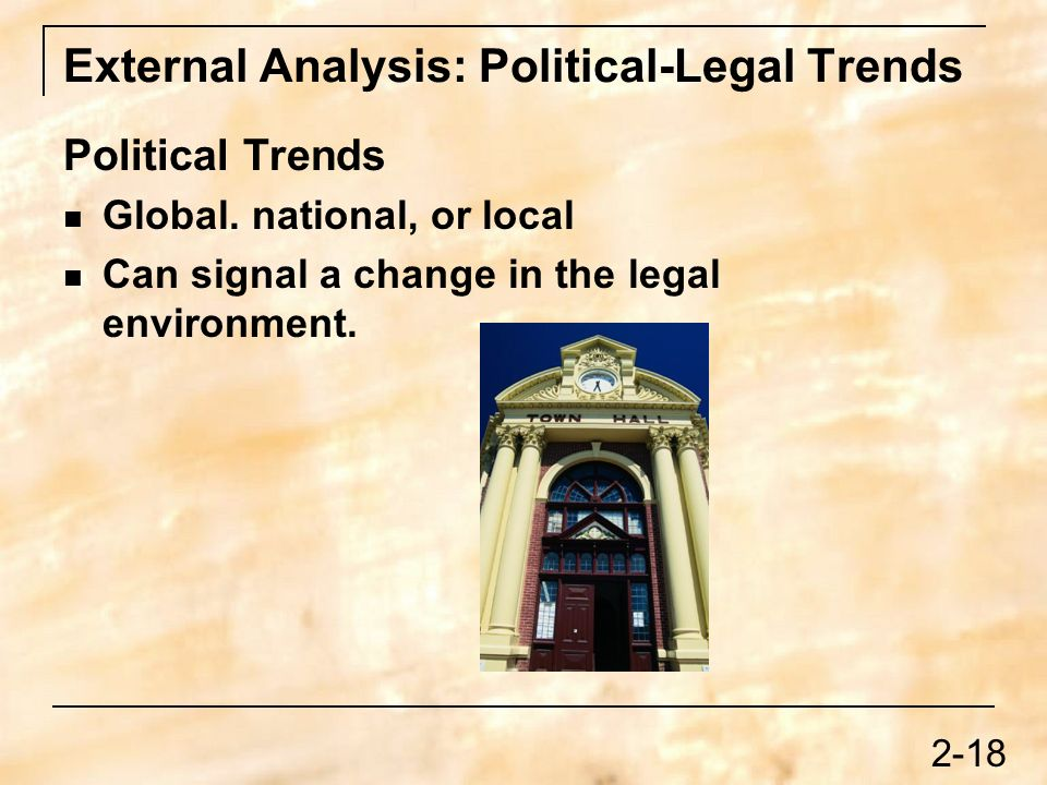political and legal trends Political, legal and social factors impacting llc and iag the following report will consist of some of the social, political and legal factors that could potentially affect leeds city college and international airlines group as a business.