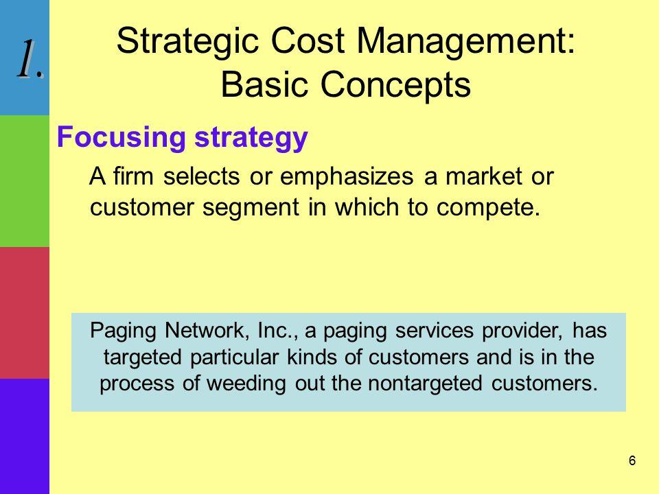 strategic cost management homework ch 6 Study 33 chapter 11: strategic cost management flashcards from michael w on studyblue.