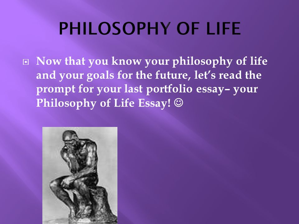 Philosophy in life essay
