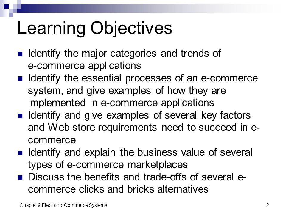 Chapter 9 Electronic Commerce Systems