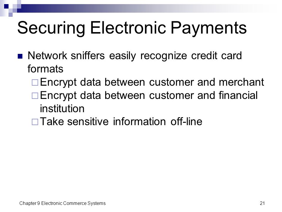 Securing Electronic Payments