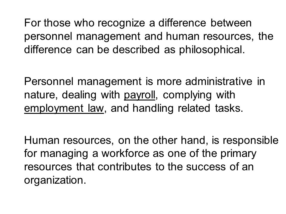 Differences Between Personnel Management And Hr Management Commerce Essay