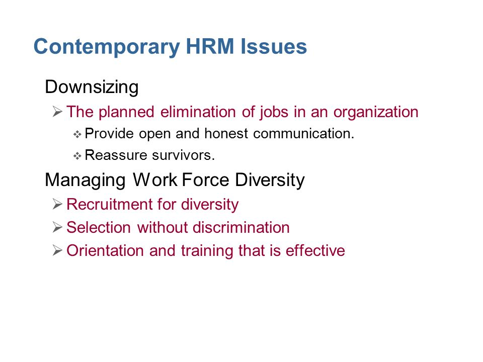 contemporry issues in hrm Hrm magazine is australia's leading magazine for hr and people management professionals it is available to ahri members and subscribers only.