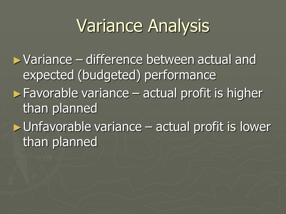 the necessity to analyse the difference between actual and budgeted cost in a company Cost control is a continuous process that begins with the annual budget   management compares actual results to those projected in the budget and  incorporates into  control reports need to provide an adequate amount of  information so that  the preparation of budgets and control reports, and the  resulting analysis of.