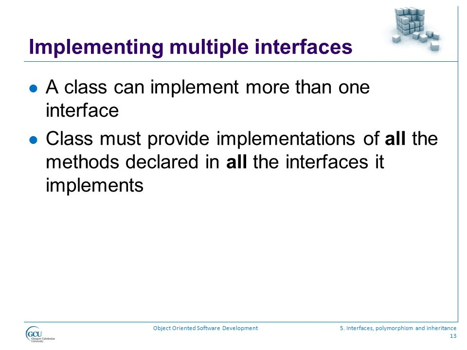 Implementing multiple interfaces