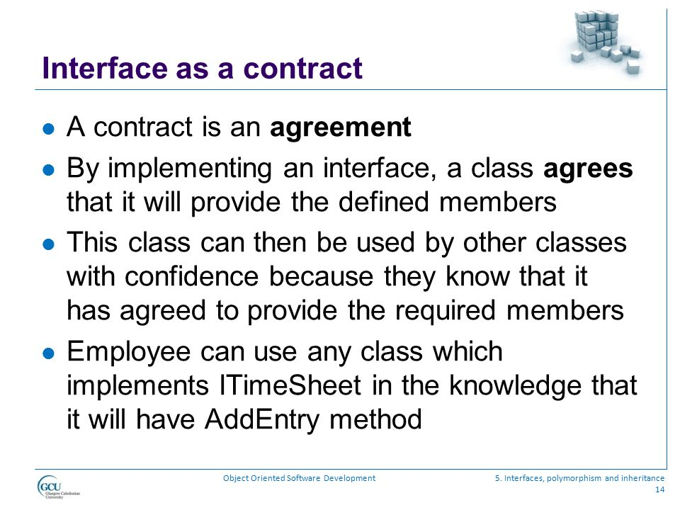 Interface as a contract