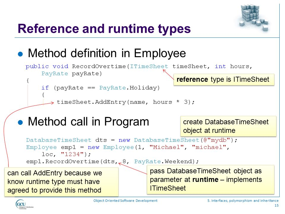 Reference and runtime types