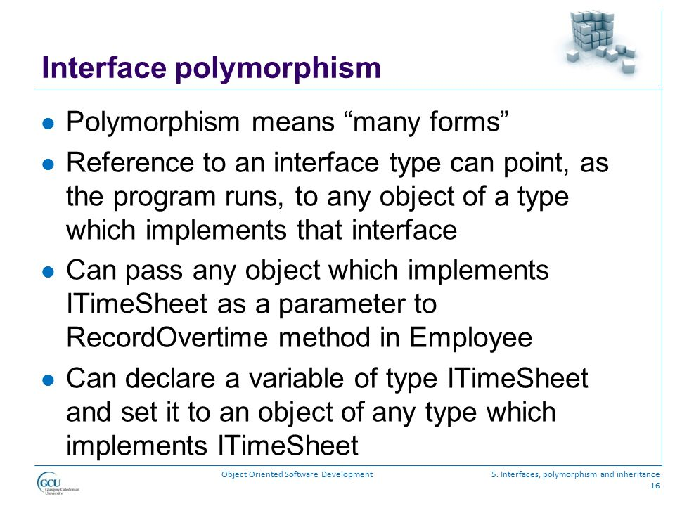 Interface polymorphism