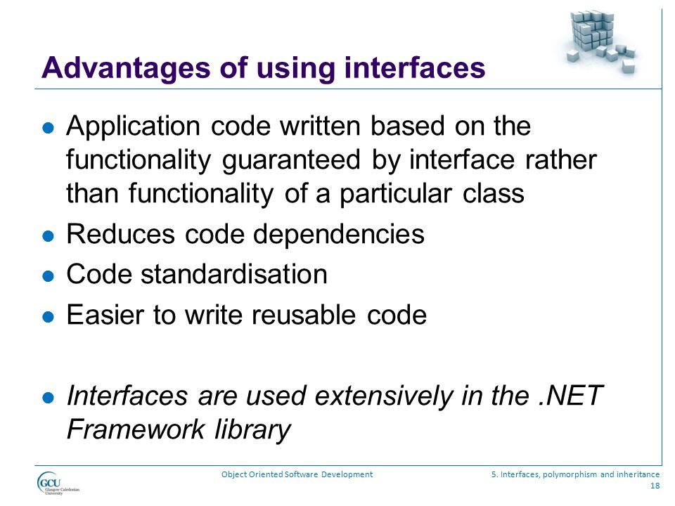 Advantages of using interfaces