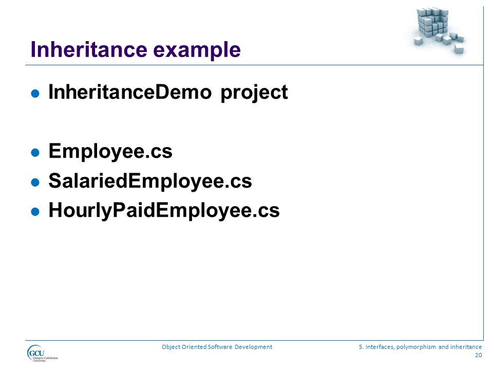 Inheritance example InheritanceDemo project Employee.cs