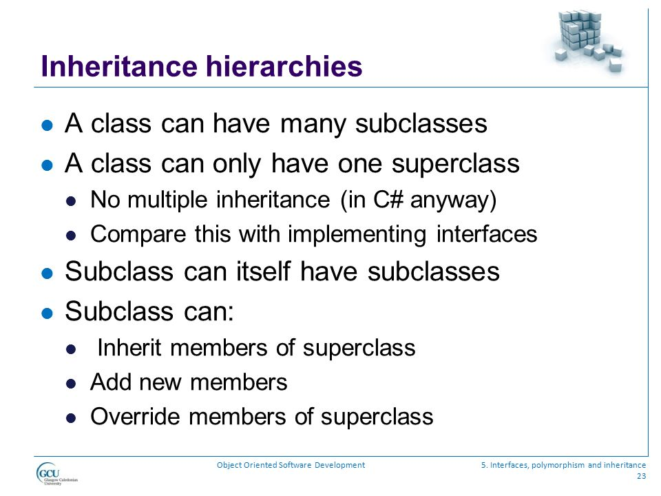 Inheritance hierarchies