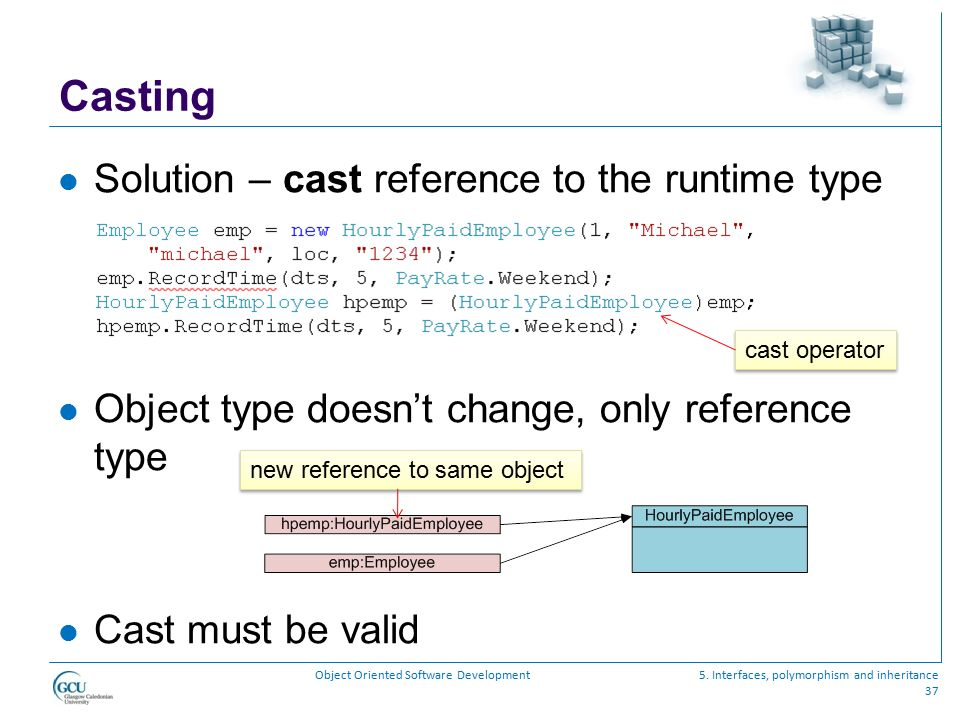 Casting Solution – cast reference to the runtime type