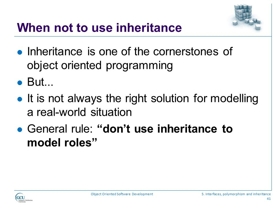 When not to use inheritance