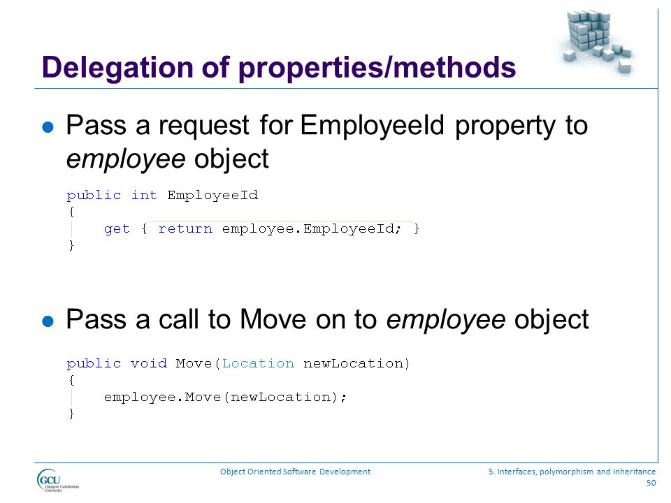 Delegation of properties/methods