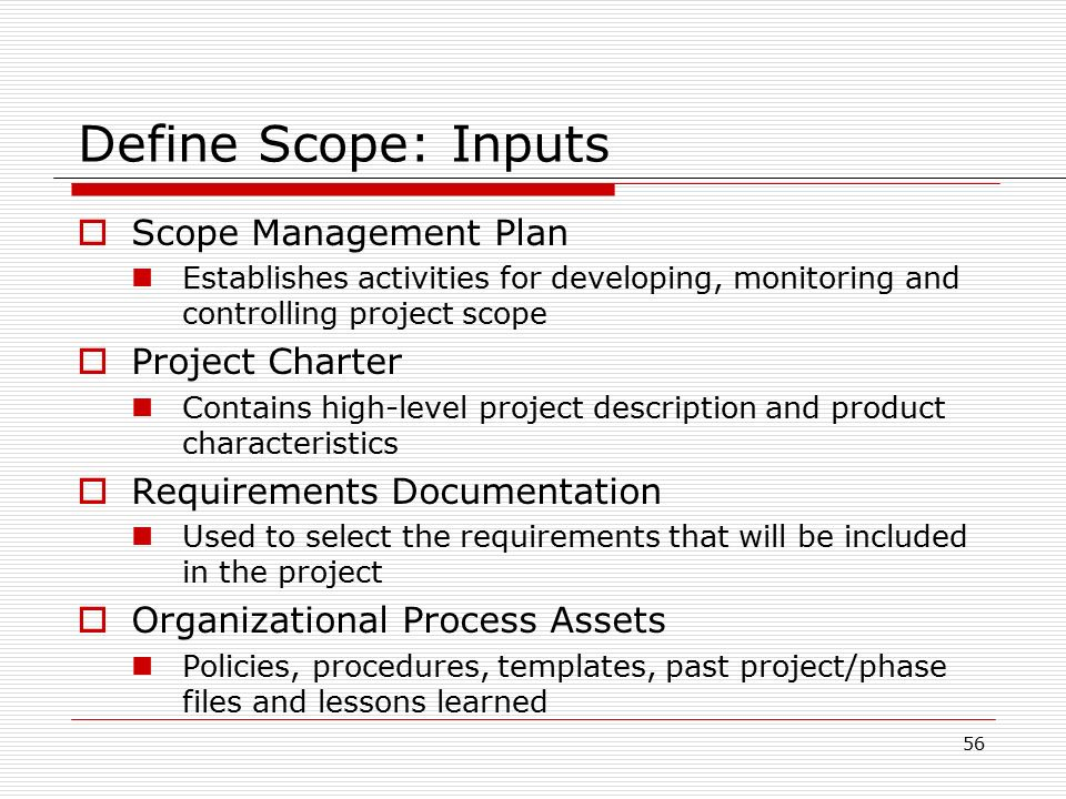 high level requirements template - project scope management ppt download