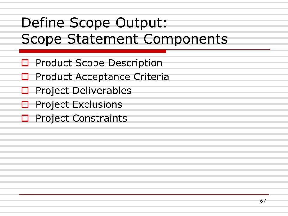 a develop a scope statement for this project that contains examples of all the elements A scope statement should be written before the statement of work and it should capture, in very broad terms, the product of the project (eg, developing a software based system to capture and track orders for software) a scope statement should also include the list of users using the product, as well as the features in the resulting product.