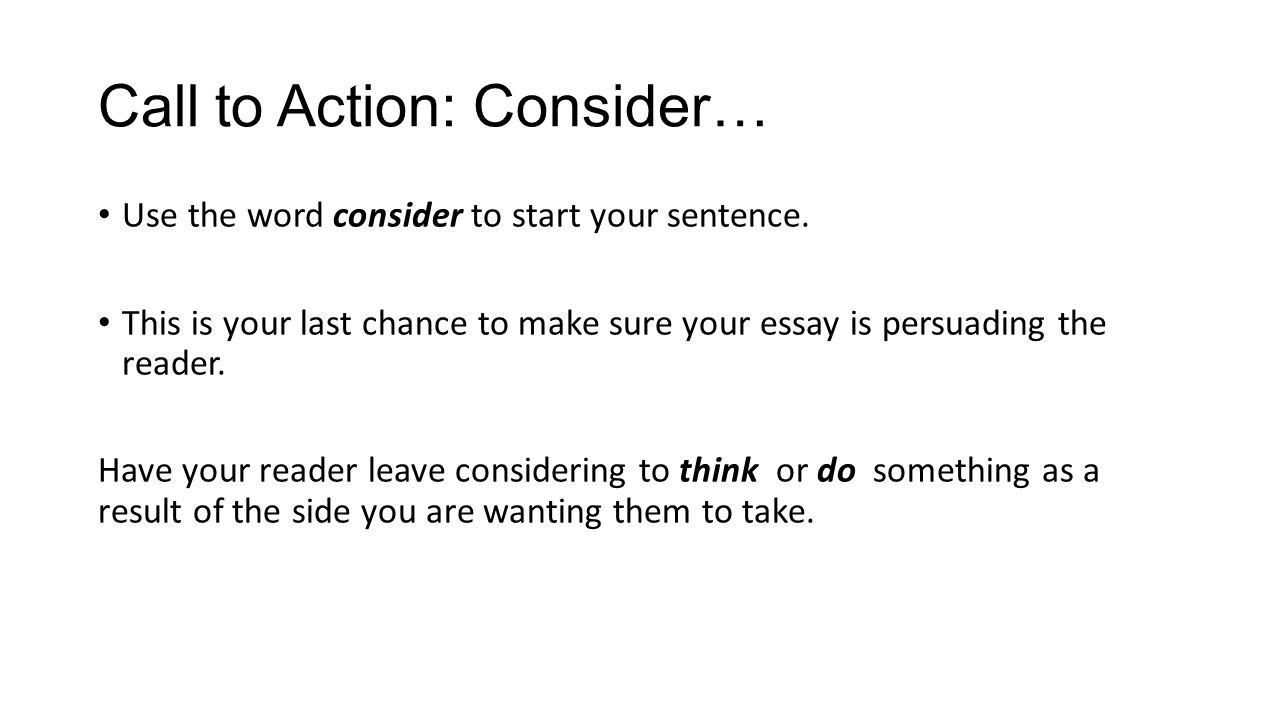 persuasive writing staar review ppt video online  6 call to action consider use the