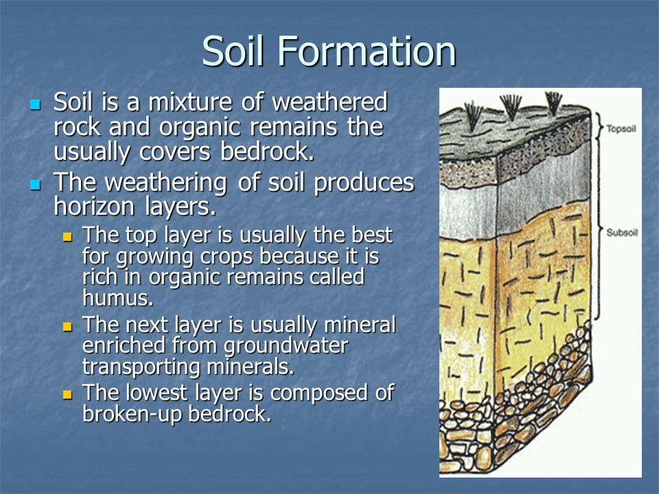Weathering erosion deposition and landscapes ppt for Soil forming minerals