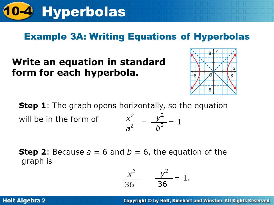 Write The Standard Equation For A Hyperbola Ppt Download