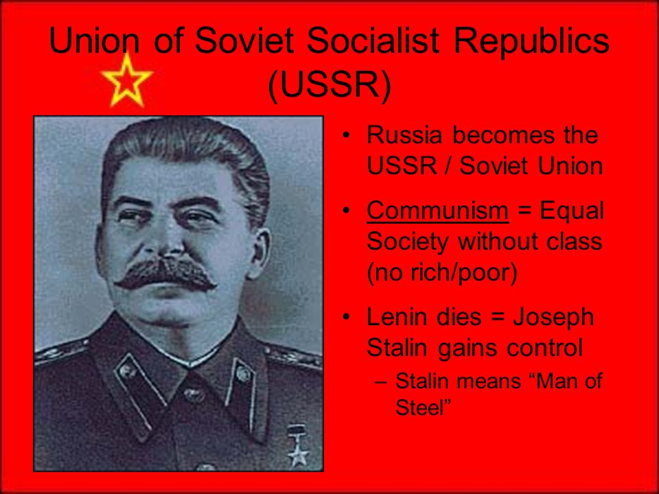 how did stalin rise from an ordinary revolutionary to be the supreme leader of the soviet union Documents of stalin during his soviet leadership friendship treaty set by soviet union finland did not consider this a military pact, but this demonstrates.