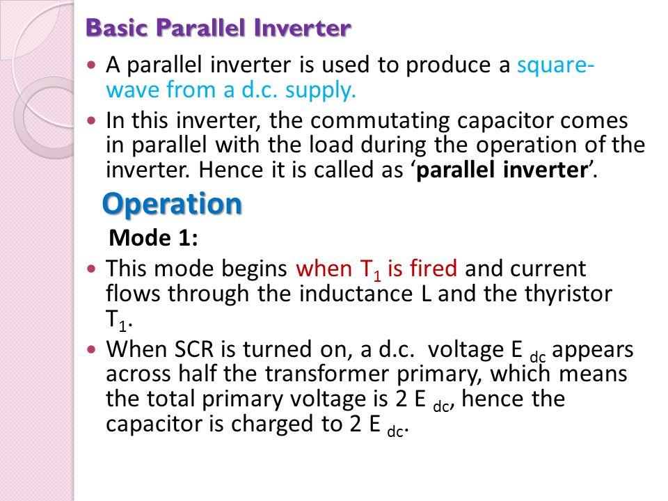 Basic Parallel Inverter