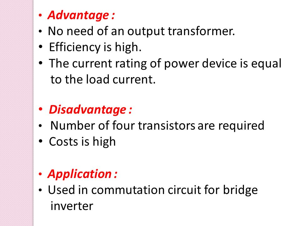 The current rating of power device is equal to the load current.