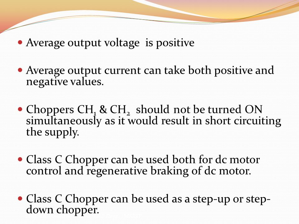 Average output voltage is positive