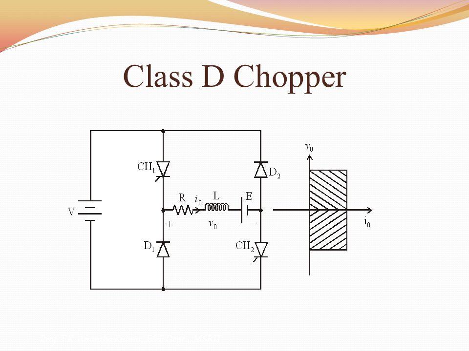 Class D Chopper Prof. T.K. Anantha Kumar, E&E Dept., MSRIT