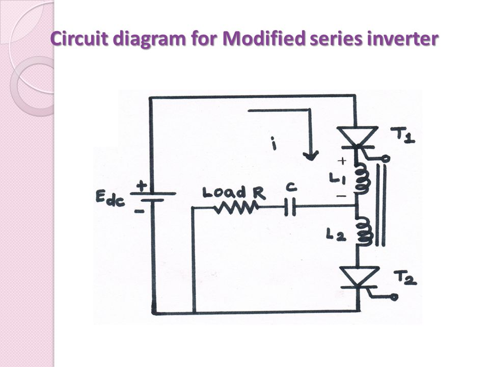 Circuit diagram for Modified series inverter
