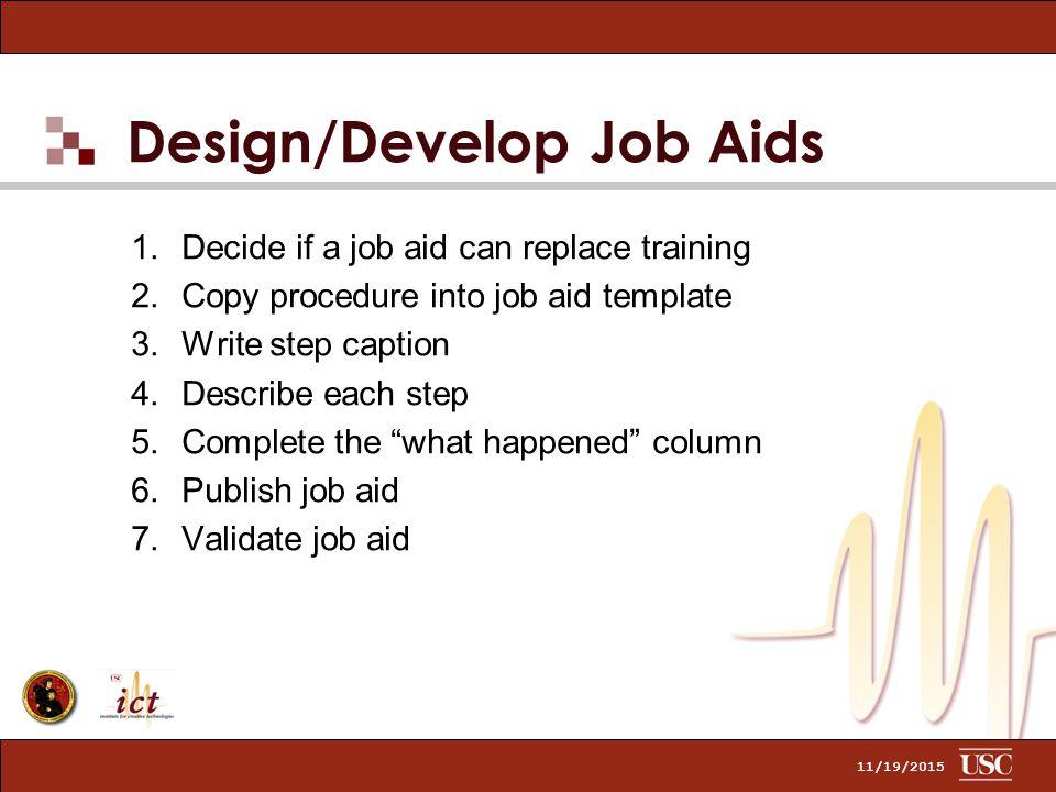 job aids template - dick clark rich dininni and gary rauchfuss november ppt