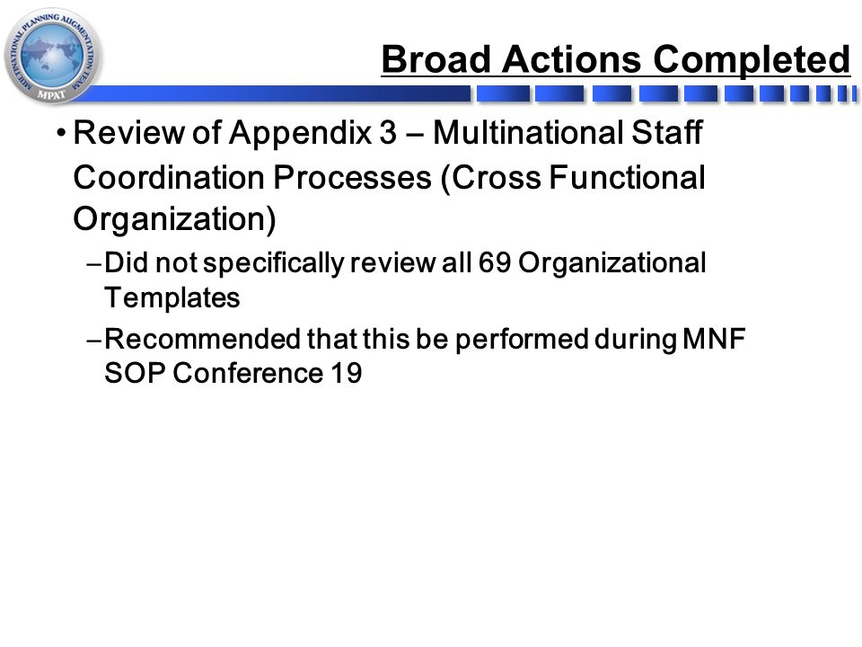 Mnf Sop 18 After Action Review (Aar) 8-12 June Ppt Download