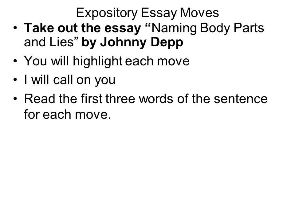 expository essay outline examples