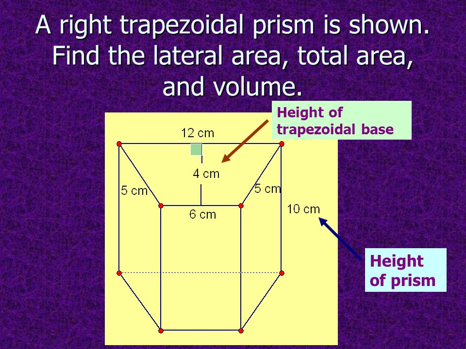 how to find the volume of a trapezoidal prism