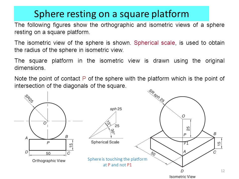 how to draw an isometric sphere