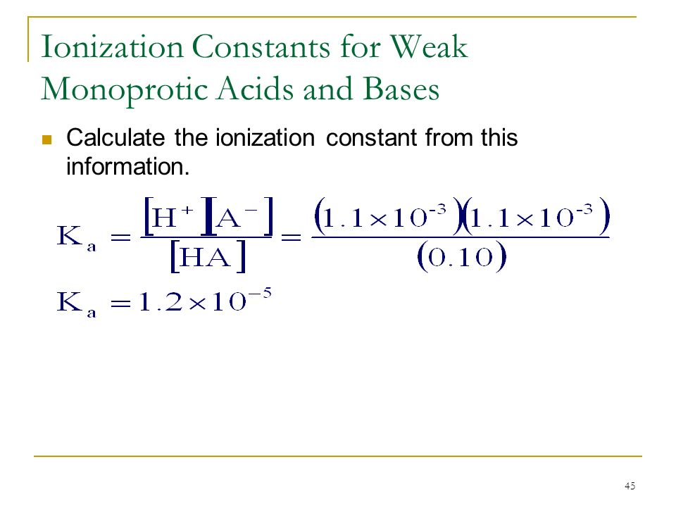 determination of dissociation constant for a weak acid by using spectrophotometer Weak acid ionization constant & properties of a buffered determination of k a of a weak acid determination of the dissociation constant of a weak acid, k a.