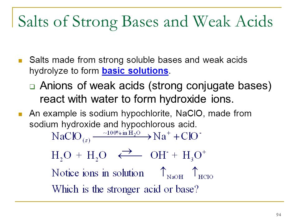 Chapter 16 Ionic Equilibria: Acids and Bases. - ppt download