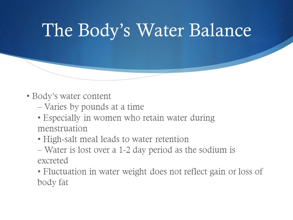 how to avoid water retention during period