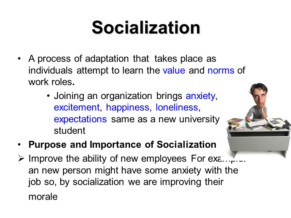 stages of the socialization process Pp 98-107 in understanding society: an introduction to sociology 3 rd ed new york, ny: harper & row, publishers, inc the context is like the theater or stage in which socialization occurs social context includes the content and process of socialization is like the play, the.