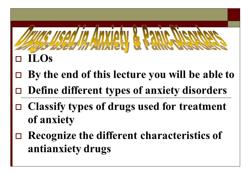 definition and types of the anxiety disorder