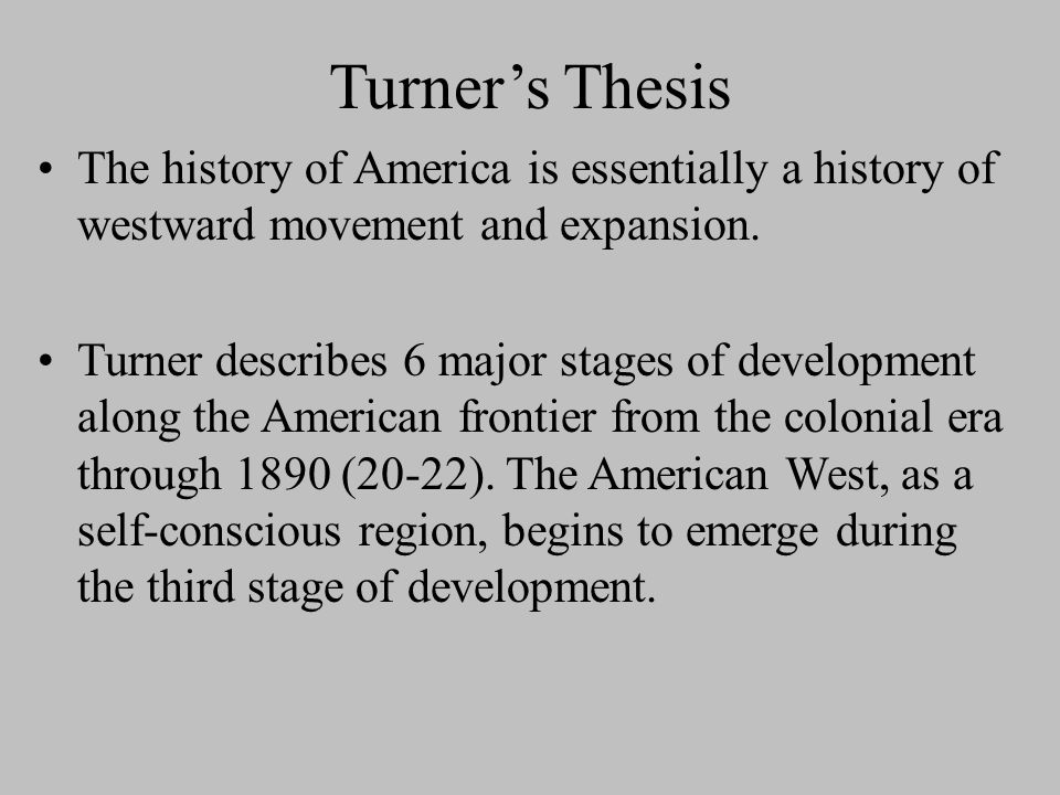 Turner thesis american exceptionalism