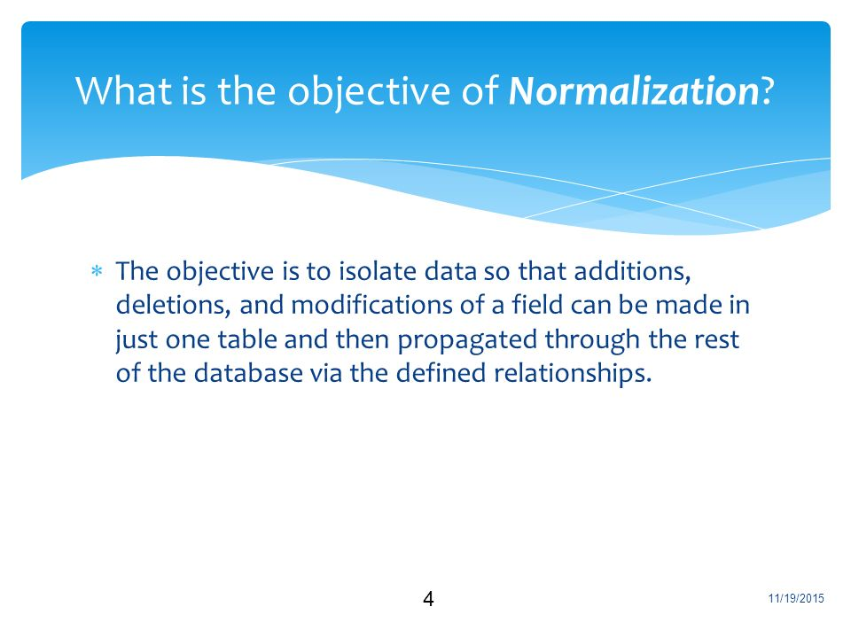 what is database normalization Database normalization can save storage space and ensure the consistency of your data here are the basics in an introductory article.