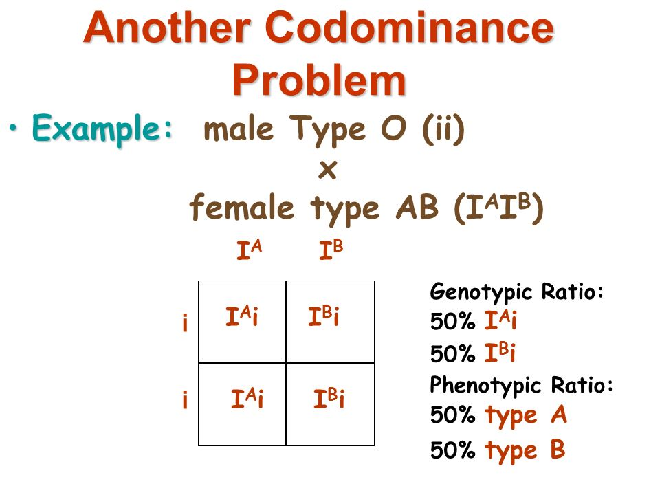 how to solve codominance problems