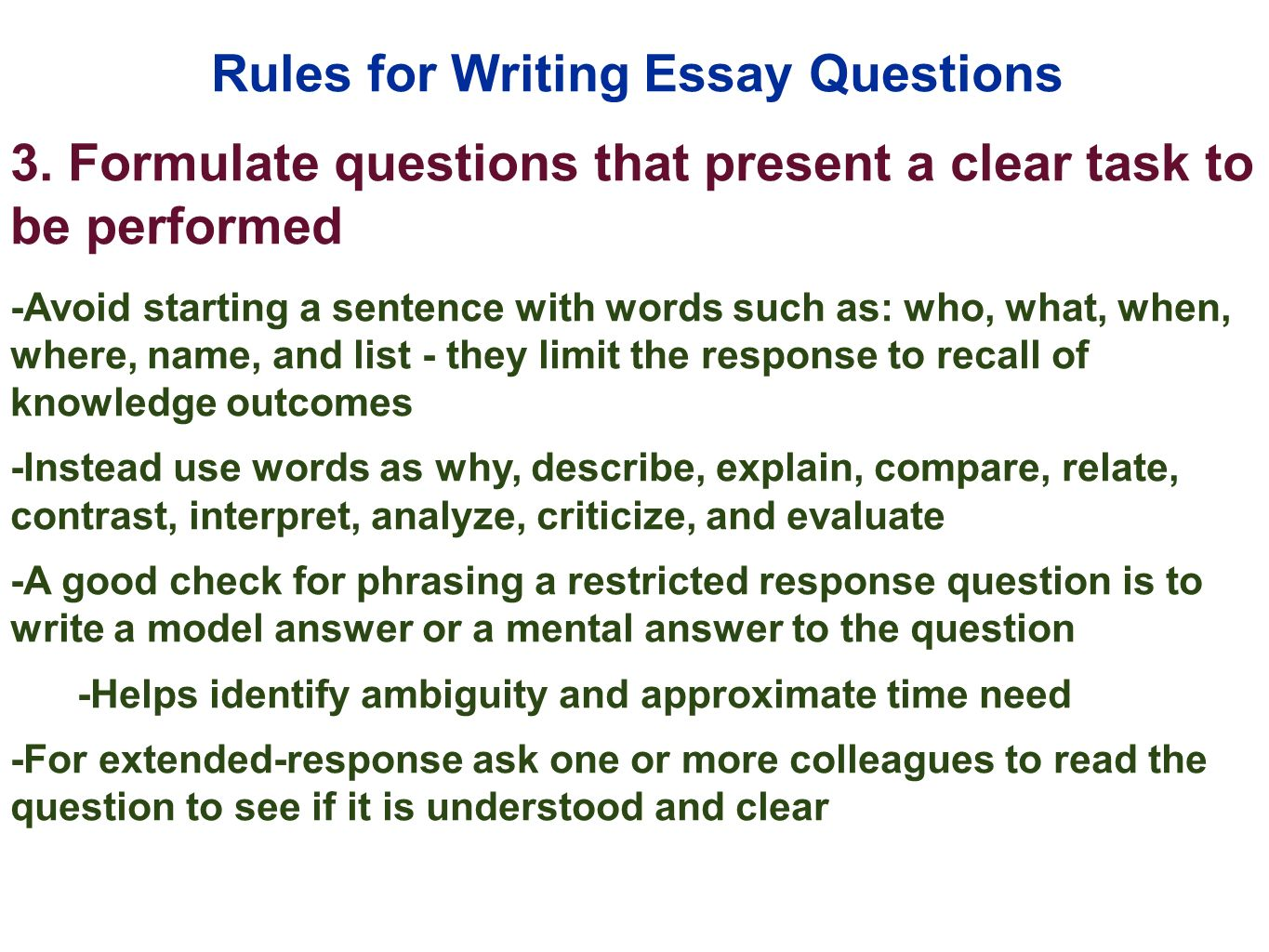 10 rules for writing an essay