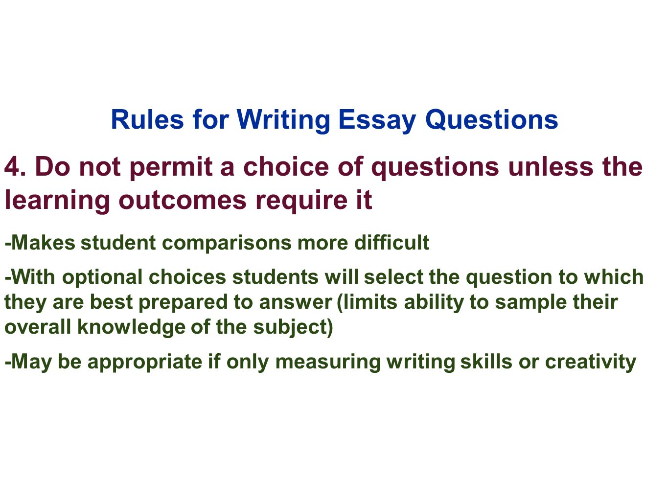 Tips on Writing the Essay-type Examination