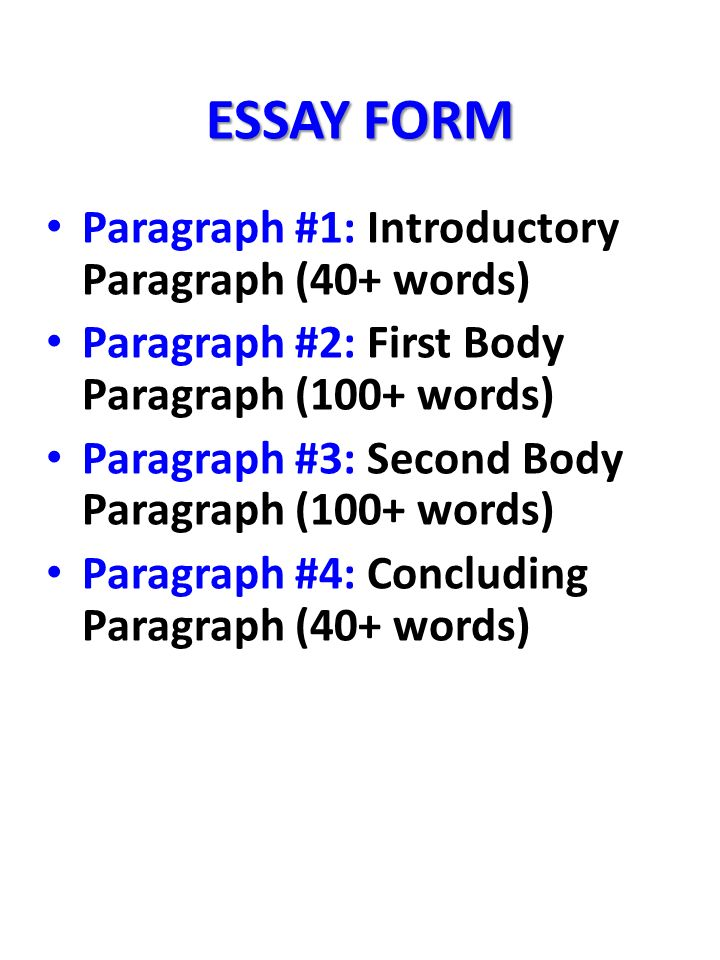 Essay writing form 1