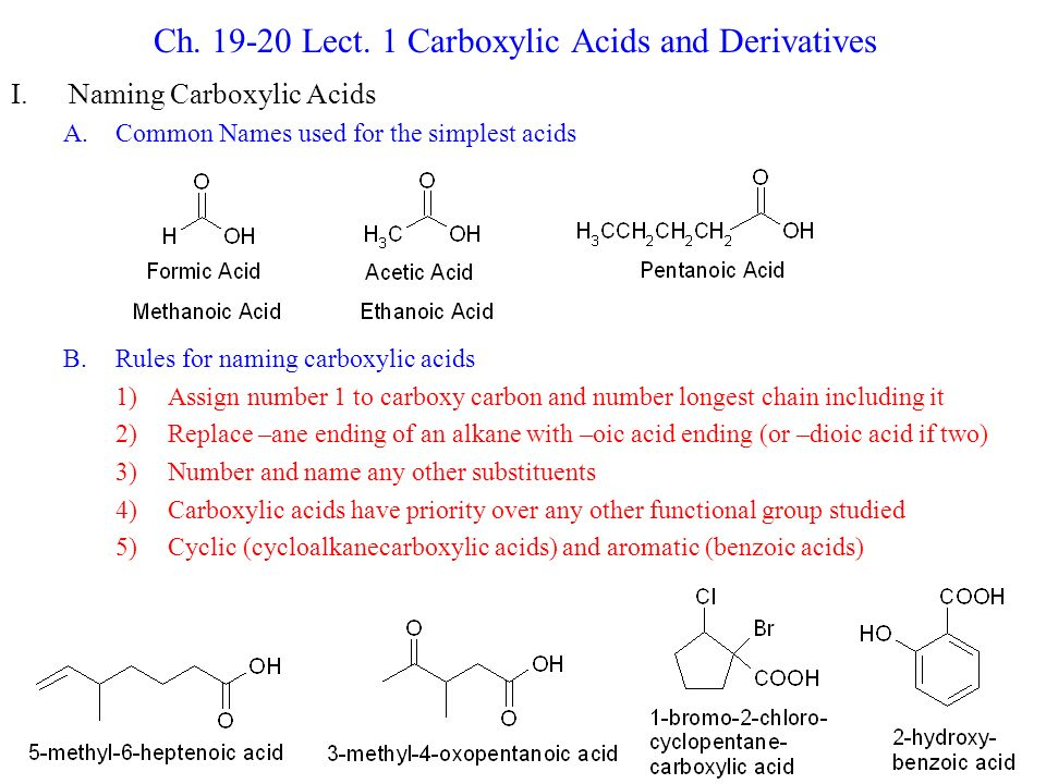 carboxylic acid functional group pdf