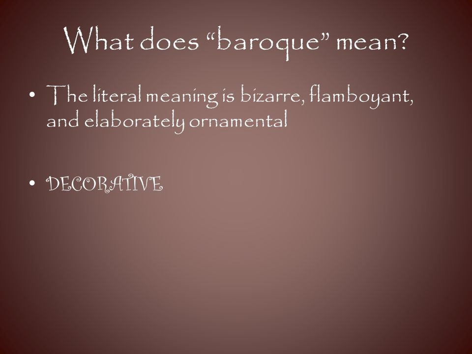 baroque era ppt video online download