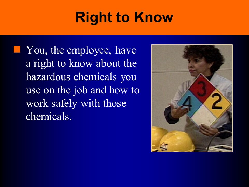 Understand That The Right To: Safety Training Presentations