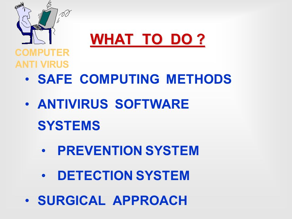 computer virus and its prevention methods Preventing virus infections on your computer version 10 page 2 of 8 introduction a computer virus is program code which 'hides' in other files and can either.