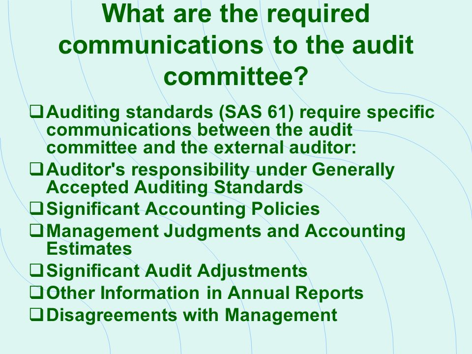 Generally Accepted Auditing Standards - GAAS